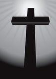 Cross. Black cross on a black background vector illustration