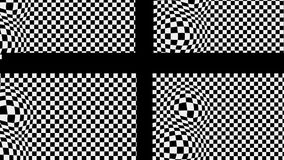 The black cross on the black and white basis with effect bulge. Animation-The black cross on the black and white basis with effect bulge royalty free illustration