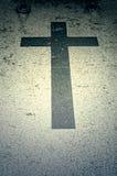 Black Cross grave stock photo