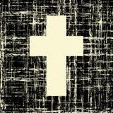 Black cross on grunge background textures stock illustration
