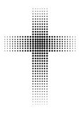 Black cross Stock Photography