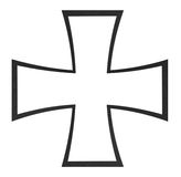 Black cross Royalty Free Stock Photo