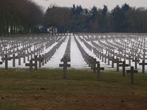 Free Black Crosses At The German Cemetery In Ysselstein In The Netherlands Stock Photos - 103192463