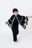 Black crow fancy dress Royalty Free Stock Images