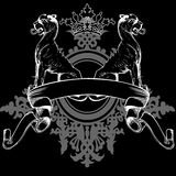 Black Crown Heraldry Lions Royalty Free Stock Image