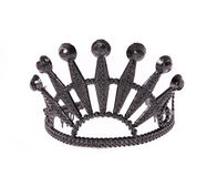 Black crown isolated on white Stock Images
