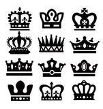 Black crowns Royalty Free Stock Images