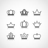 Black crowns shapes Royalty Free Stock Photos