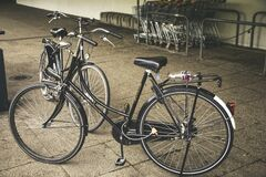 Black Cruiser Bicycle Royalty Free Stock Image