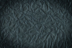 Black crumpled paper Royalty Free Stock Photography