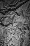 Black Crumpled Paper Background Royalty Free Stock Photo