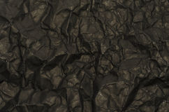 Black crumpled paper. Texture background Royalty Free Stock Photography