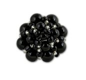 Black crystal cluster ring Royalty Free Stock Image