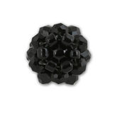 Black crystal cluster ring Stock Photo