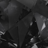 Black crystal facet background Royalty Free Stock Photos