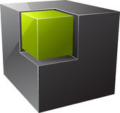 Black cube. Stock Images