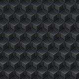 Black cube abstract background. 3D Royalty Free Stock Image