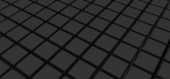 Black cubes Stock Photos