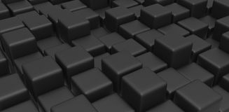Black cubes Royalty Free Stock Photo
