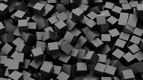 Black cubes. Background. 3D Rendering Royalty Free Stock Photo