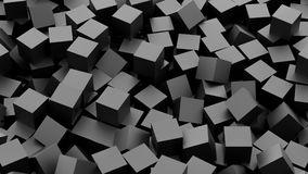 Black cubes. Background. 3D Rendering Royalty Free Stock Image