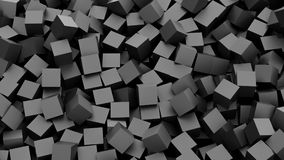 Black cubes. Background. 3D Rendering Stock Photography