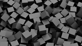 Black cubes. Background. 3D Rendering Stock Photos