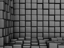 Black, cubic, corner space. Raster modern background. Can be used for graphic or website background Royalty Free Stock Photography