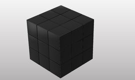 Black cubic puzzle Royalty Free Stock Photography