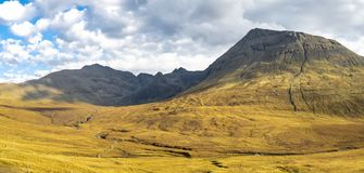 The Black Cuillin Mountains on the Isle of Skye - Scotland stock images