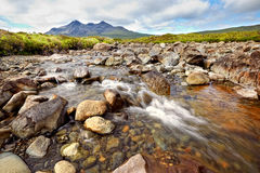 Black Cuillin ridge, Isle of Skye, Scotland Royalty Free Stock Photo
