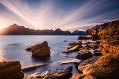 Black Cuillins from Elgol Royalty Free Stock Photo