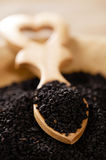 Black cumin or caraay or onion seeds Royalty Free Stock Image