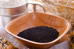 Black cumin (Nigella sativa) Royalty Free Stock Photos