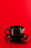 Black cup of coffee Stock Image