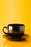 Black cup of coffee Royalty Free Stock Photo