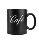 Black cup of coffee Royalty Free Stock Images
