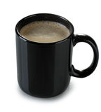 Black cup of coffee Stock Photo