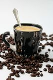 Black cup with coffee royalty free stock image