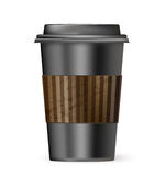 Black cup of coffee to go Stock Photo
