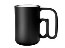 Black cup with @ handle Royalty Free Stock Photos