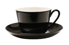 Black cup isolated. With clipping path Royalty Free Stock Images