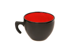 Black cup isolated. On the white background Stock Photo