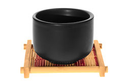 Black cup on a stand Stock Image