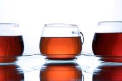 black cups tea Fotografering för Bildbyråer