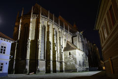 Black Curch, Brasov, Romania. Black Curch in the night, one of the most important landmarks in Brasov, Romania Royalty Free Stock Photo