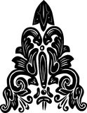 Black curled symmetric design Royalty Free Stock Images