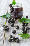 Black currant berry and jam Stock Photography