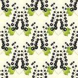 Black currant berry seamless pattern background Royalty Free Stock Photo