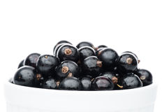 Black currant in bowl Royalty Free Stock Images